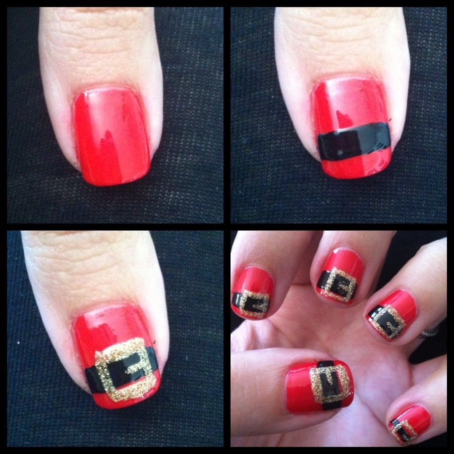 Holiday Nail Art Tutorials: DIY Manicure Of The Week: Santa's Belt
