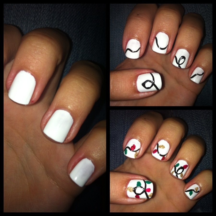 Christmas Lights Nail Art: DIY Manicure Of The Week: String Of Lights