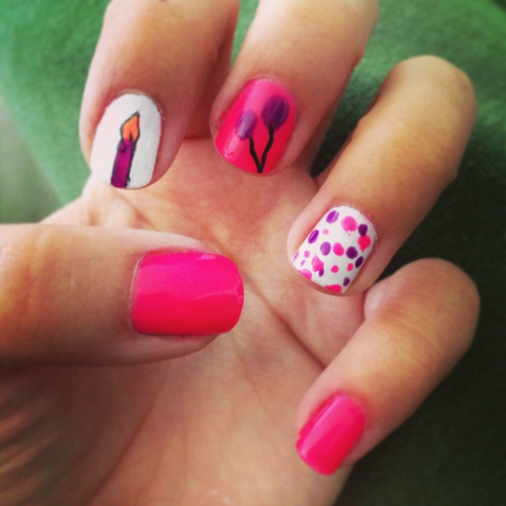 DIY Manicure Of The Week: Birthday Nails!!
