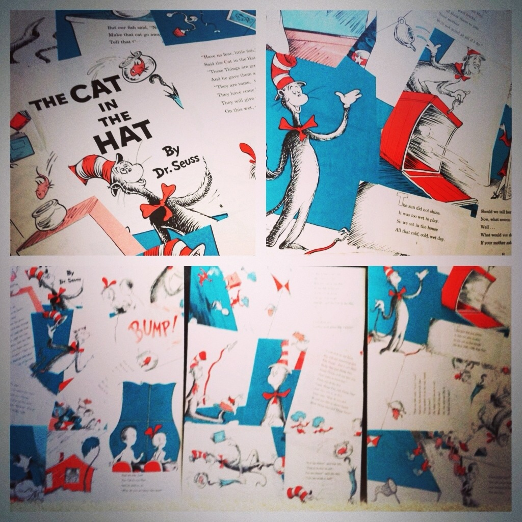 diy cat in the hat collage posters champagne taste beer budget