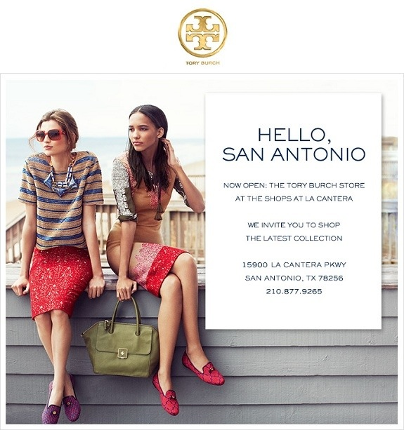 2bdd084b073 Tory Burch open at La Cantera – Champagne Taste Beer Budget